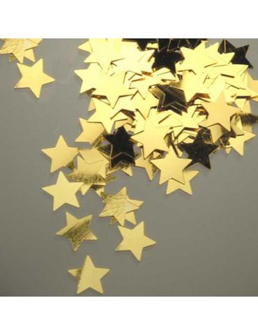 Paillettes moyennes étoiles or