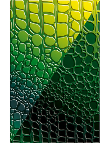 Plaque texture FIMO - Croco