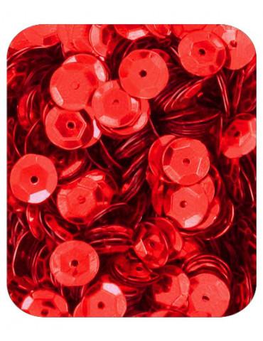 Sequins 6mm rouge - 15gr
