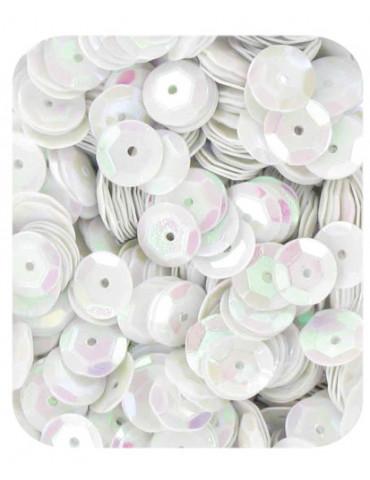 Sequins 6mm blanc nacré - 15gr