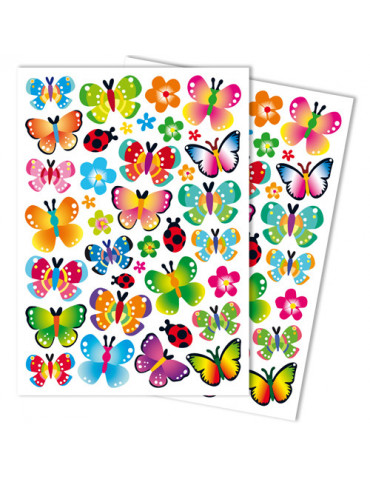 Gommettes GIRLY papillons x88