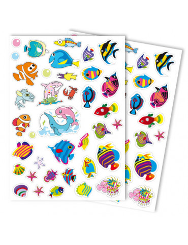 Gommettes GIRLY Poissons x74