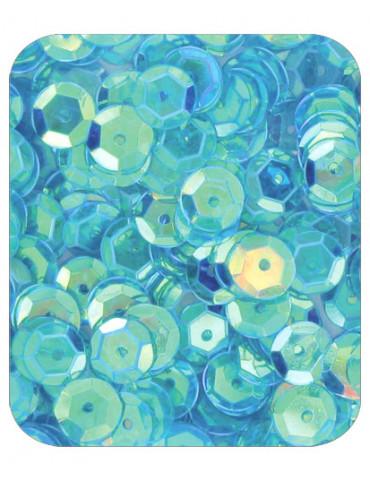 Sequins 6mm bleu...