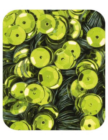 Sequins 6mm vert anis - 15gr
