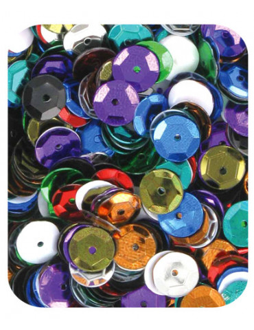 Sequins 6mm assortiment - 15gr