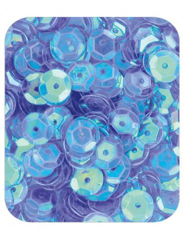 Sequins 6mm bleu nacré - 15gr