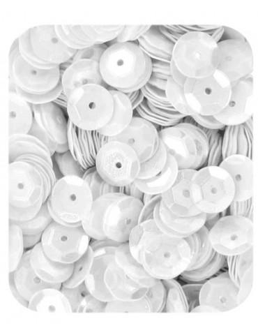Sequins 6mm blanc - 15gr