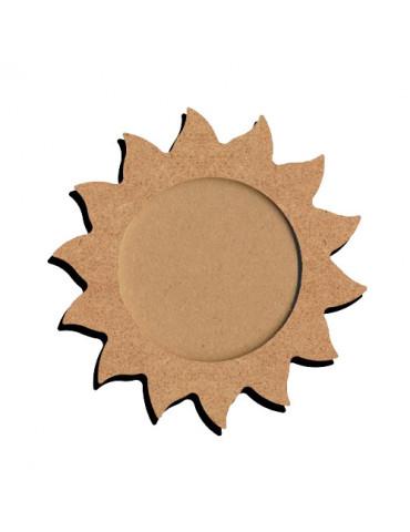 Cadre MDF soleil 16x13 cm