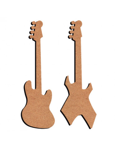 Guitare x2 en MDF - 26cm