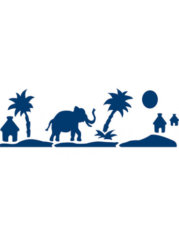 Pochoir frise safari 15x40cm