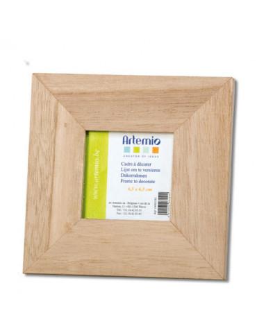 Cadre photo bois carré 14,5cm