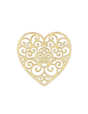 Silhouette Coeur volute 8cm x3