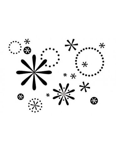 Tampon bois F - Cristaux neige