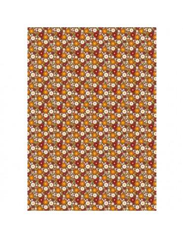 Tissu adhésif A4 champs marron