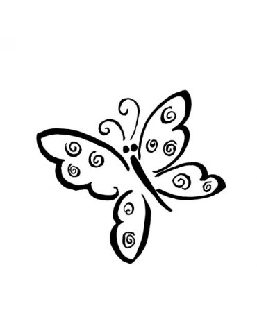 Tampon bois B - Papillon
