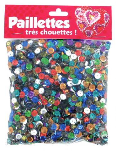 Sequins 6mm assortiment -...