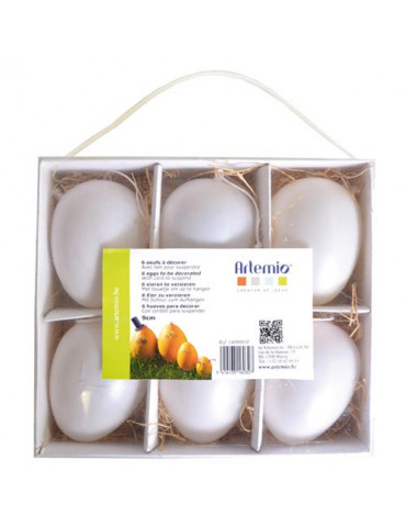 Oeufs plastique blanc 9cm x6