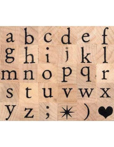Tampons bois - Alphabet...