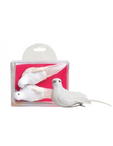 Oiseaux décoratifs blanc...