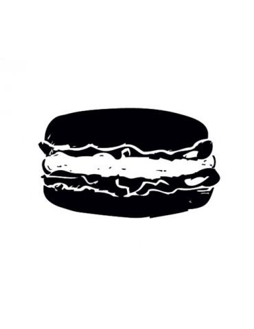 Tampon bois - Macaron