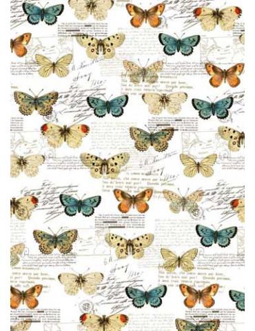 Tissu adhésif A4 Papillons