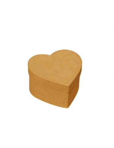 Mini boites carton cœur x4