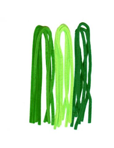 Fils chenilles Mix vert 8mm...