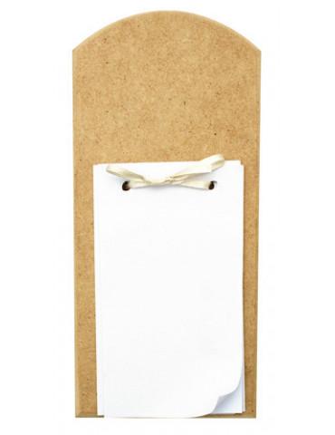 Porte bloc-notes avec feuilles