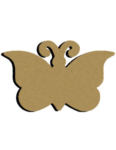 Support bois - Papillon 15cm