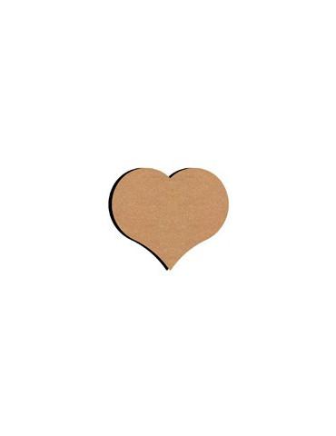 Coeur en bois - 26cm