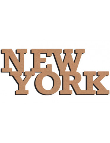 NEW YORK en bois - 58cm