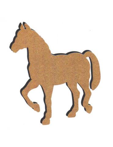 Cheval debout en bois - 26cm