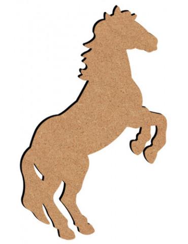 Cheval cabré en bois - 26cm