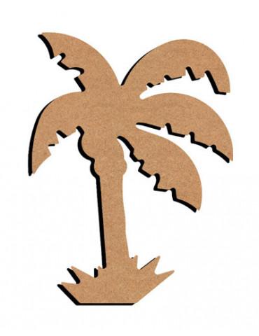 Support bois - Palmier 15cm