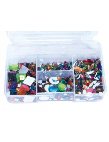 Kit 1000 strass multicolores
