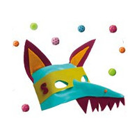 Masque à décorer - Masque à peindre - Masque à colorier