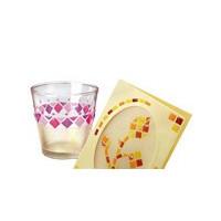 Petit stickers adhésifs - Stickers mosaïque en plastique autocollants